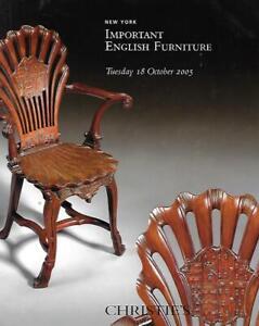 Christie S Imp English Furniture Auction Catalog October 2005 Ebay