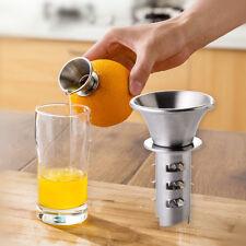 Früchte Zitrone Orange Fruchtpresse Zitruspresse Saft Presse HAND Silber Farben