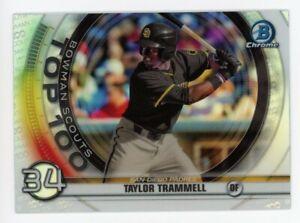 2020 Bowman Chrome BTP-34 TAYLOR TRAMMELL San Diego Padres TOP 100 ROOKIE INSERT