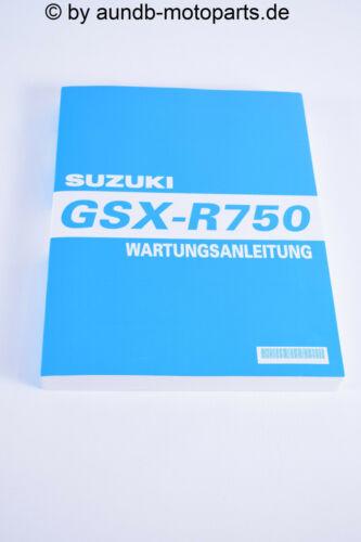 GSXR 750 Srad Werkstatthandbuch NEU Service Manual NEW original Suzuki