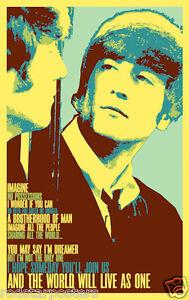 John Lennon Imagine 0460 Vintage Music Poster Art