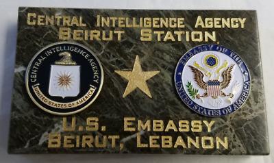 CIA Beirut Station US Embassy Beirut Lebanon Marble Desk Signage ...