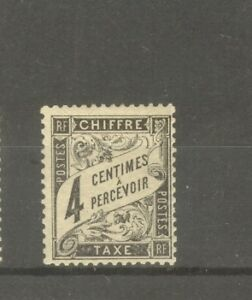 FRANCE-STAMP-TIMBRE-TAXE-N-13-034-TYPE-DUVAL-4c-NOIR-034-NEUF-xx-TTB