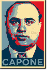 AL CAPONE ART PHOTO PRINT POSTER GIFT (BARACK OBAMA HOPE PARODY)