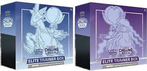 Chilling Reign Sword & Shield Elite Trainer Box Pokemon Set of 2 Presell