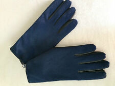 New Paul Smith Blue Hair detail to Back & Thumb = Leather Gloves BNWT 9.5