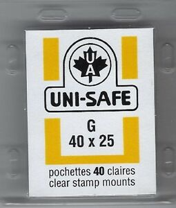 Uni-Safe-Scott-Prinz-Split-Back-G40x25-mm-40-Clear-Precut-StampMounts-GermanMade