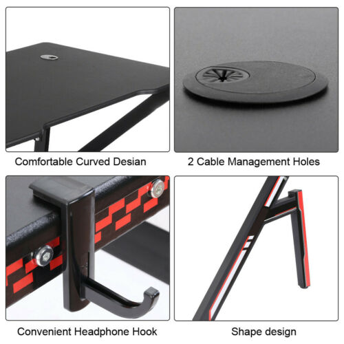 Gaming Desk Home Office Computer Table Ergonomic Racing Style Gamer Student Desk