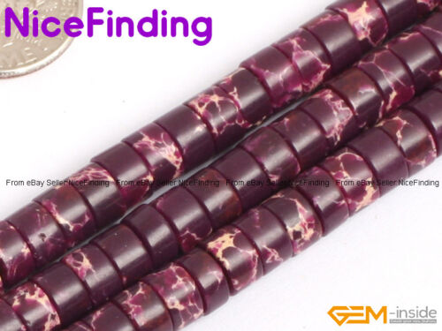 Multi-Color Sea Sediment Jasper Stone Heishi Spacer Beads For Jewelry Making 15/""