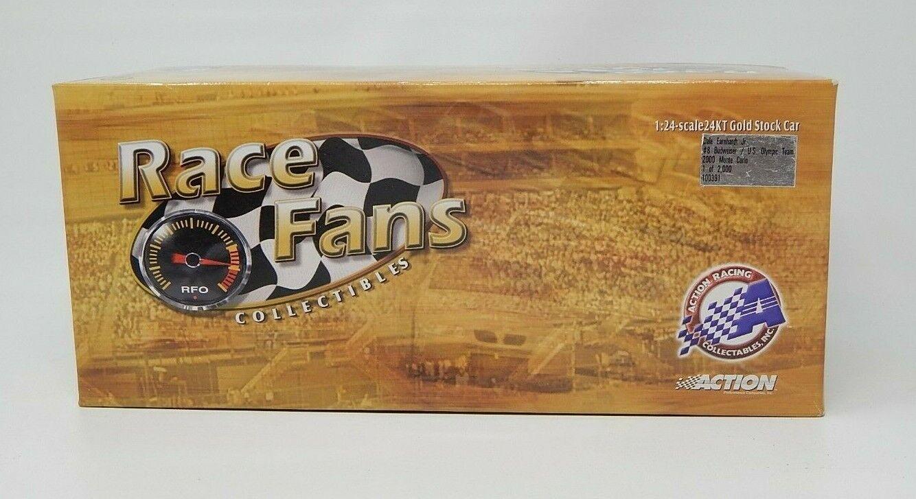 Action Race Fans 24kt gold Dale Earnhardt Jr. Budweiser 2000 Monte NASCAR