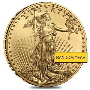 1/4 oz Gold American Eagle $10 Coin BU (Random Year)