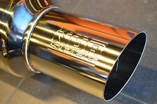 NEW Blitz Nur Spec Exhaust muffler MPP704 70mm piping 400mm lenght supra subaru