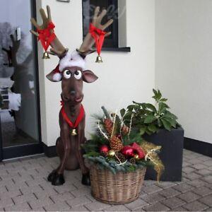 Elch Rentier Rudi 144 Cm Deko Garten Tier Figur Weihnachts