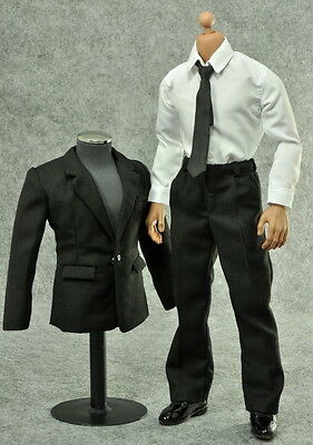ZY Toys Men's Black Suit Full Set 1/6 Fit for 12inch action figure