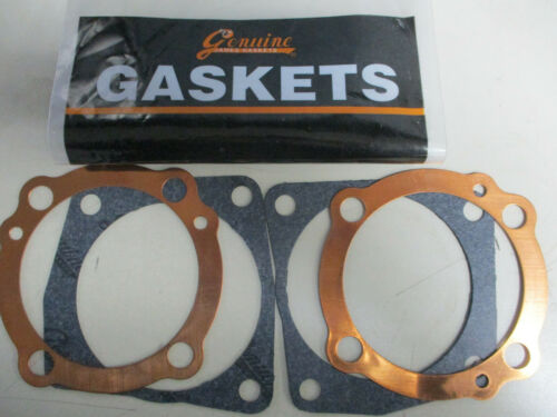 XL SPORSTER 1000cc 1972-1973 COPPER HEAD GASKETS /& PAPER BASE GASKETS  BY JAMES
