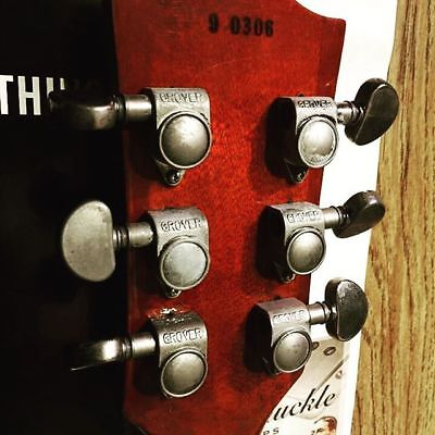 59 parts aged relic grover rotomatic tuners for gibson historic les paul 3l 3r ebay. Black Bedroom Furniture Sets. Home Design Ideas
