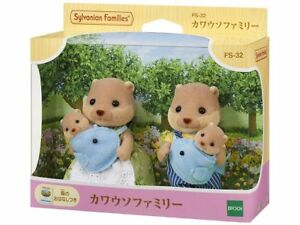 Sylvanian-Families-OTTER-FAMILY-FS-32-Dolls-Epoch-Japan-Calico-Critters