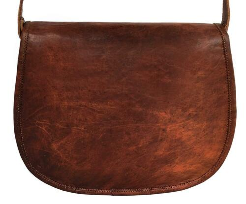 Handmade Leather Unisex Real Brown Leather Messenger Bag for Laptop Briefcase