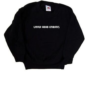 United Arab Emirates text Kids Sweatshirt