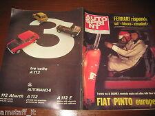 AUTOSPRINT 1972/44=FIAT PINTO EUROPEO=AUTOBIANCHI A 112 ABARTH=