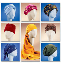 McCall's 4116 Sewing Pattern to MAKE Head Wraps Turban & Hats - 7 Styles 3 Sizes