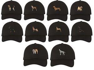 5a300bafa4e Image is loading DOG-BREEDS-Dad-Hat-Embroidered-Beagle-Bulldog-German-