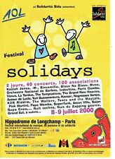 Publicité Advertising 037  2000   Solidarité Sida  radio NRJ AOL Solidays