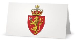 Royal Norway Norwegian King Knight Lion Crest Heraldry Invitation Gift Card Note