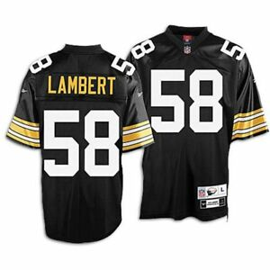 newest ce464 f3947 Details about Pittsburgh Steelers Jack Lambert Premier Throwback Reebok  Jersey NEW SMALL