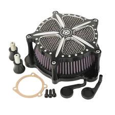 Chrome Round Mesh Air Cleaner Filter Harley Keihin CV Carb Softail Dyna XL12-113