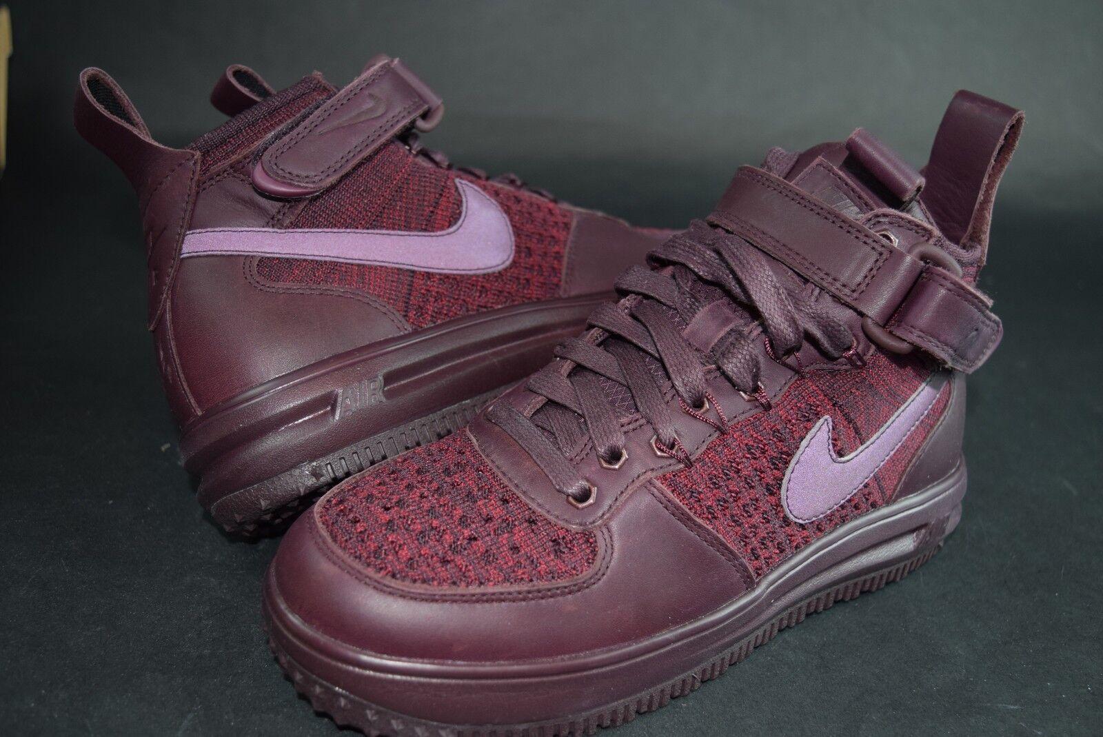 New femmes Nike Nike Nike LF1 Flyknit Workboot 860558 Burgundy 600 sz Deep e80ac1