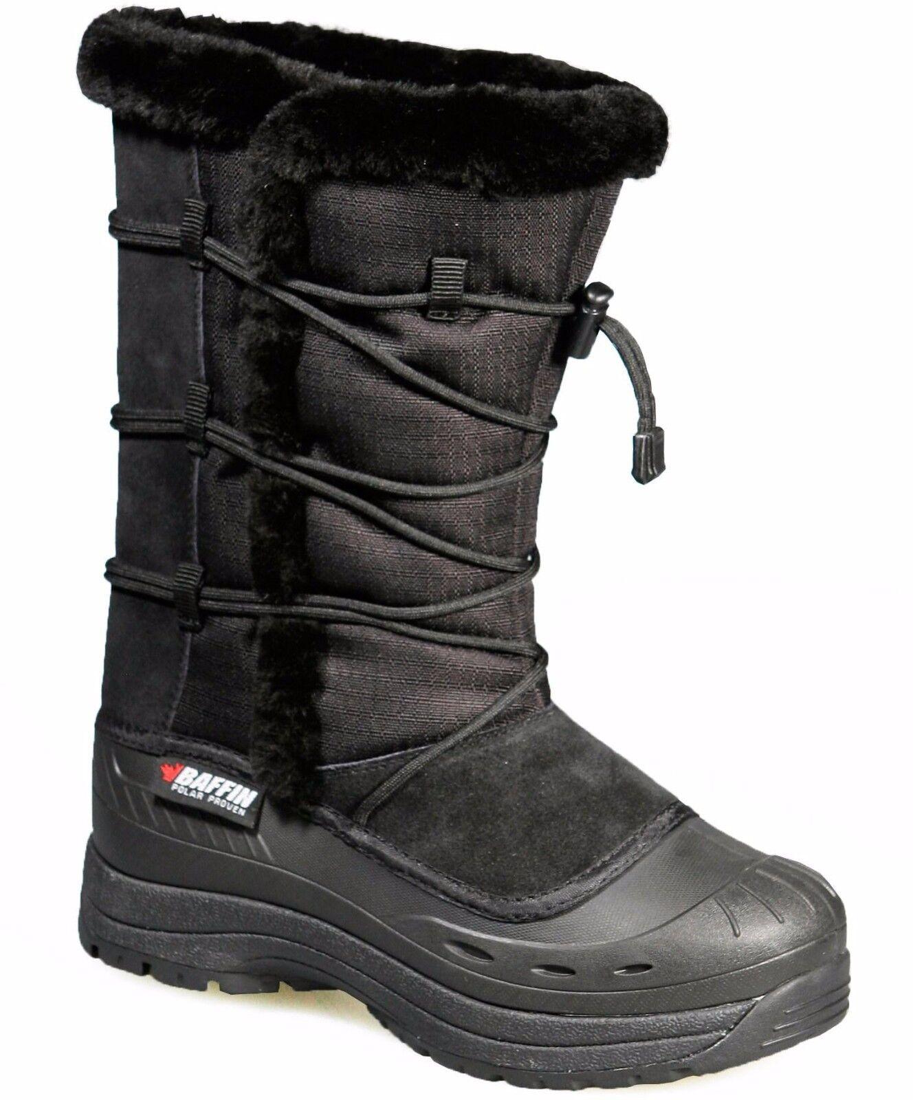 Baffin Bottes Ella Hiver Neige Bottes Imperméable Isolé Bottes Noires, US 8 m