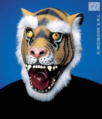 Caucho Tiger Mask Con Piel De Animal Selva Libro Fancy Dress