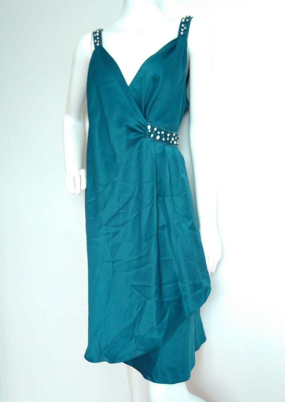 ELEMENTS AMANDA WAKELEY embellished dress Größe 20 --BRAND NEW-- teal knee length