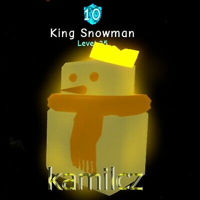 Roblox Bubble Gum Simulator 1x King Snowman Limited Legendary Virtual Pet Op Ebay