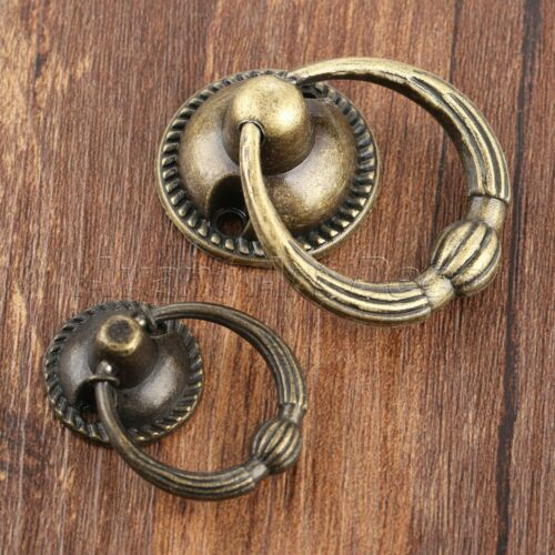 Retro Furniture Cabinet Drawer Knob Ring Home Bookcase Wardrobe Door Pull Handle