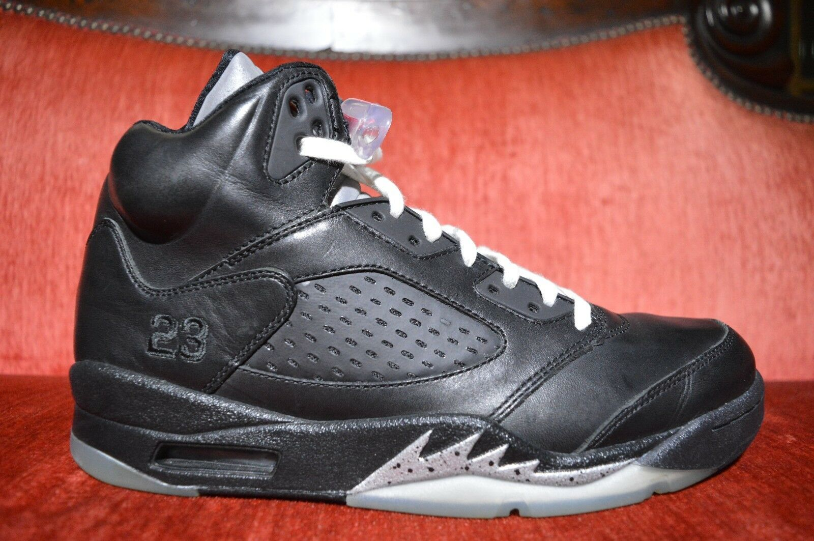 Nike Air Jordan 5 V Retro Premio  Bin 23  Black Size 9.5 444844 001 OG ALL Metal