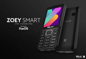 Blu Zoey Smart Unlocked Dual SIM Cell Phone With KAIOS Operating System New