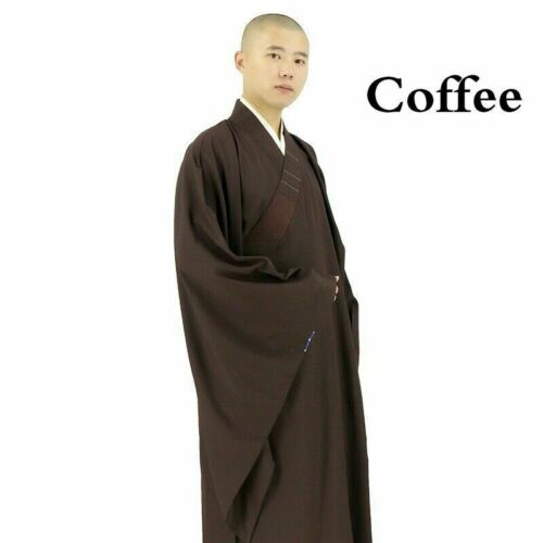 Mens Shaolin Buddhist Monk Dress Meditation Haiqing Robe Kung Fu Suit Unisex