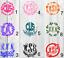 Flower Personalized Monogram Decal 3inchx3inch