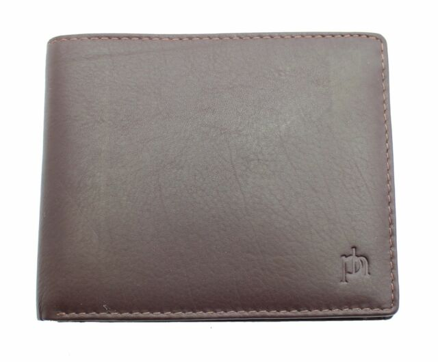 c6ed66524b00 Mens Real Leather Wallet Purse With Zip Pocket Coin Pouch & ID Window 3894  Brown for