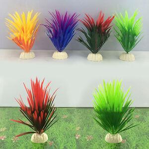 Artificial-Plastic-Plant-Narcissus-Water-Grass-Fish-Tank-Aquarium-Decor
