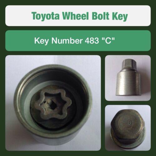 """Genuine Toyota Bloccaggio Ruota Bullone//dado chiave 483 /""""C/"""""""
