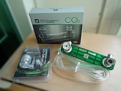 DIY CO2 generator D501 kit planted aquarium needle valve pressure gauge diffuser