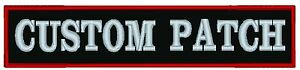 """Custom Embroidered 14"""" Name Patch Motorcycle Biker Tag"""