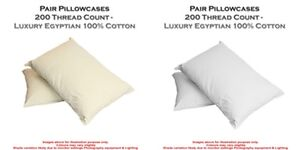 2-X-Pillow-Case-Luxury-Housewife-100-Egyptian-Cotton-200-Thread-Count-Pair-Pack