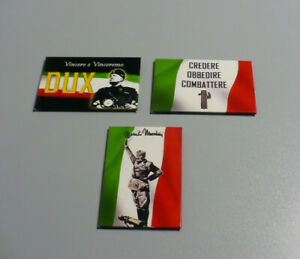Benito-Mussolini-Calamite-con-frasi-storiche-del-Duce-Serie-3-pezzi