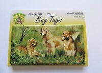 Ruth Maystead Bag Tag- Luggage Tag--golden Retriever Dog--flexible Plastic