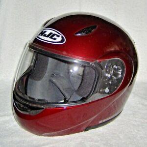HJC CS-R3 Motorcycle Helmet Wine Red L LG Large Full Face DOT