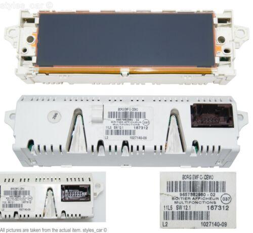 9657882980 Genuine Peugeot 307 CC 407 C5 Multi-function Digital Display Screen